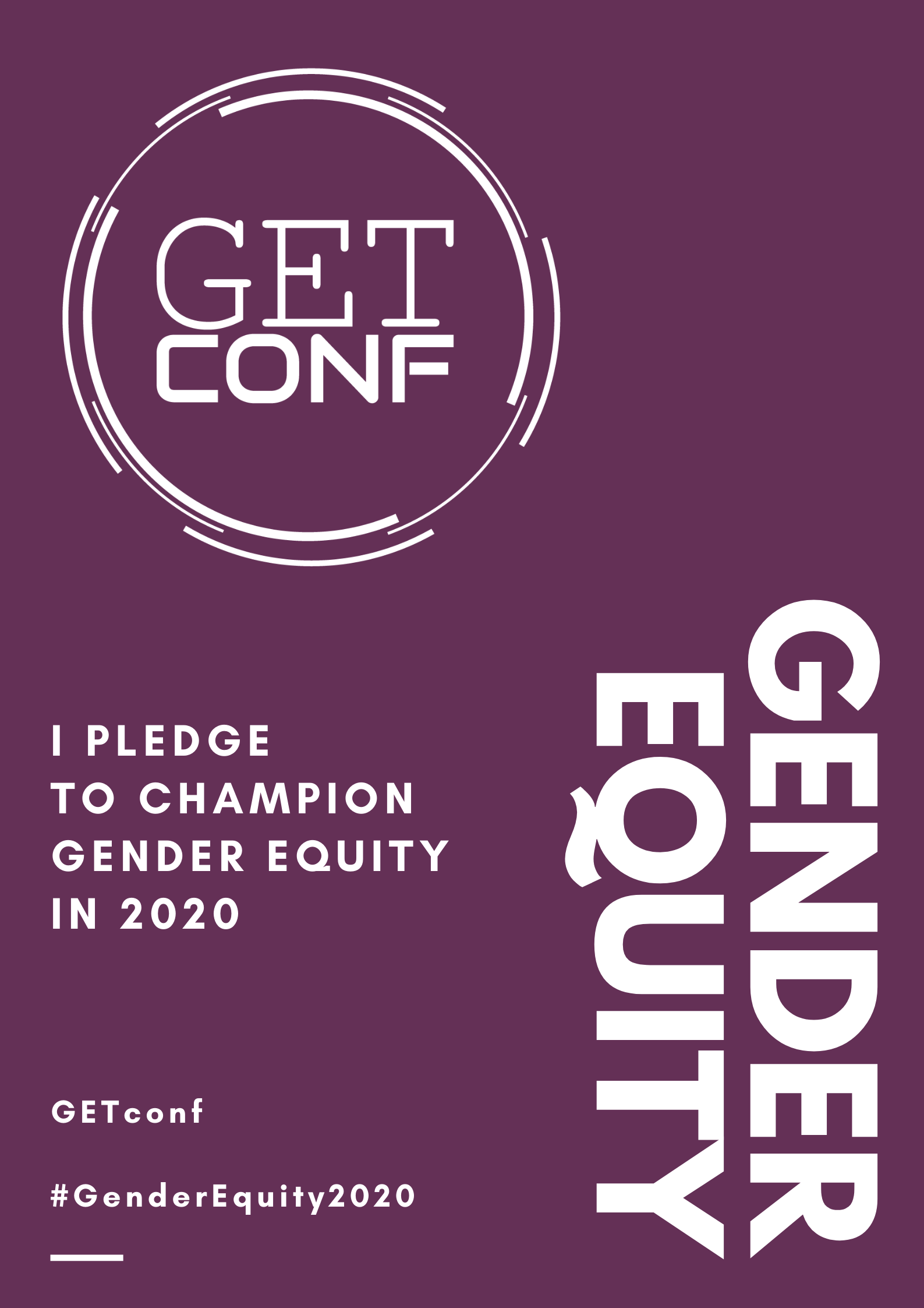 I pledge to champion gender equity in 2020